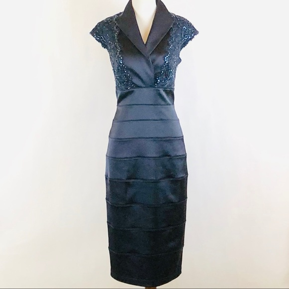 Tadashi Shoji Dresses & Skirts - Tadashi Shoji blue sequined lace cocktail dress